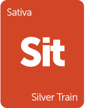 Leafly Silver Train sativa cannabis strain tile