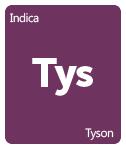 Leafly Tyson cannabis strain tile