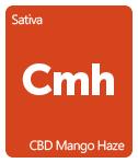 Leafly CBD Mango Haze cannabis strain tile