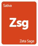 Leafly zeta sage cannabis strain tile