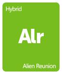 Leafly alien reunion cannabis strain tile