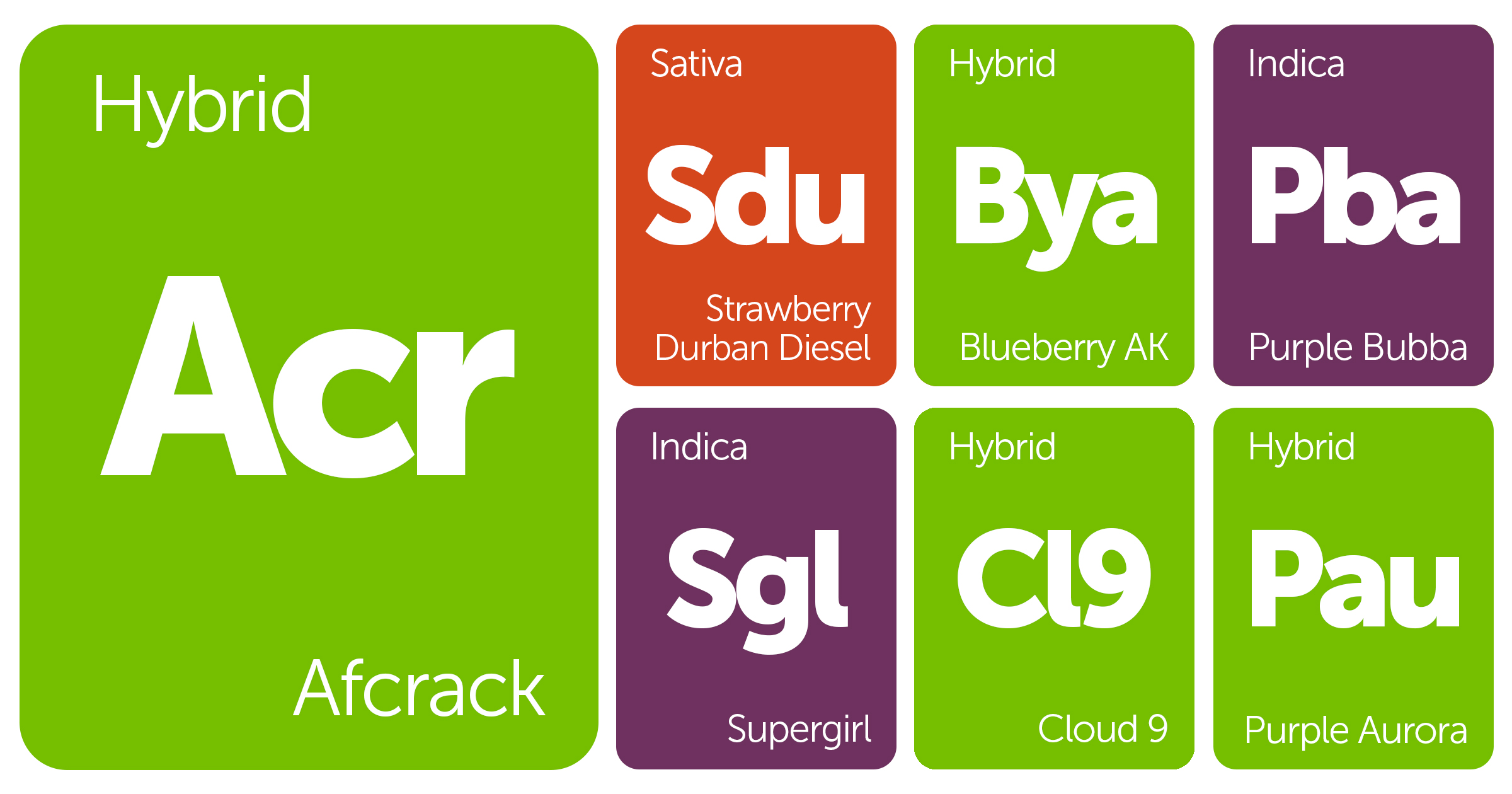 New Strains Alert: Afcrack, Purple Bubba, Blueberry AK, Cloud 9, and More