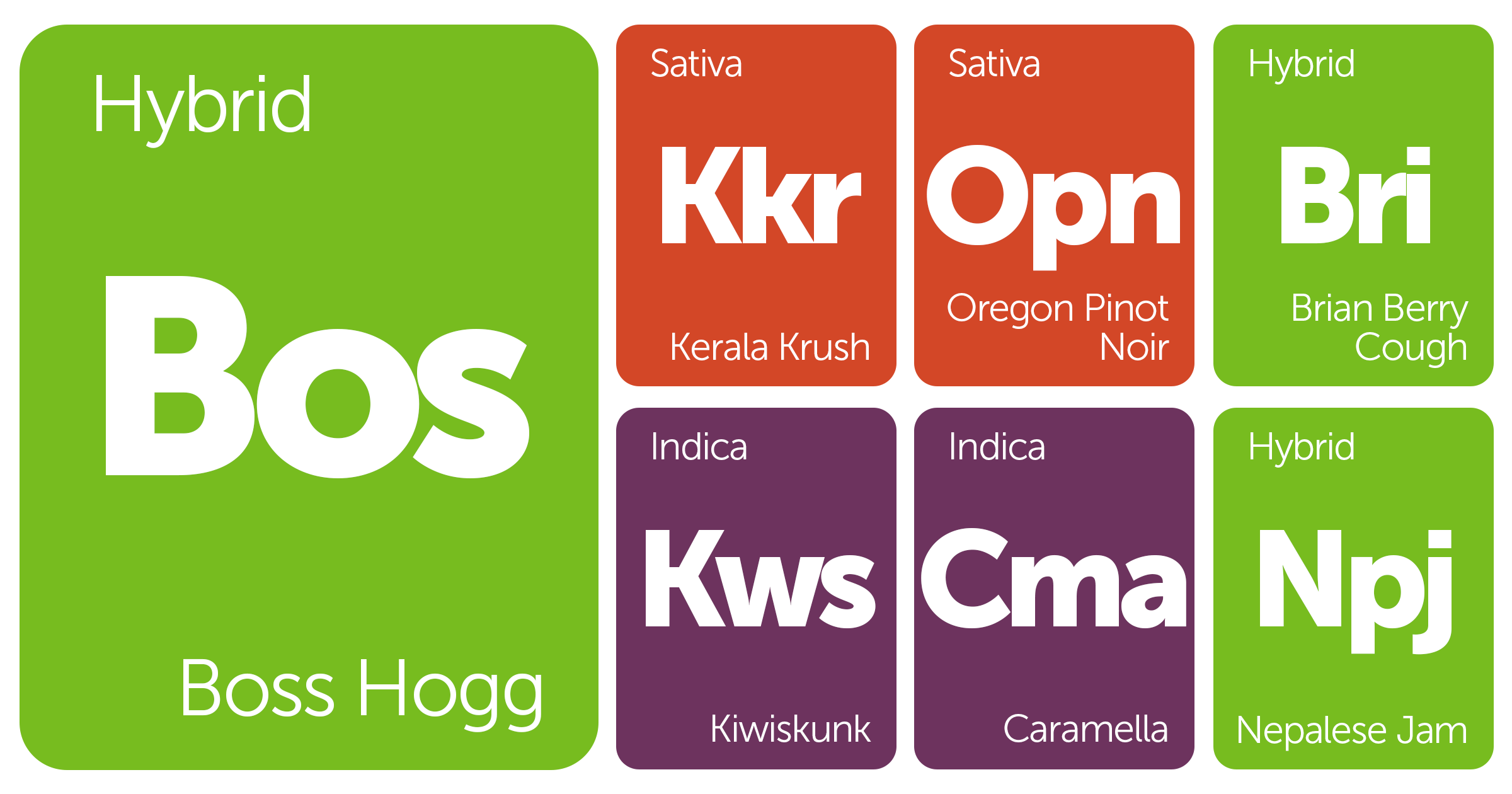 New Strains Alert: Boss Hogg, Brian Berry Cough, Kerala Krush, Kiwiskunk, and More