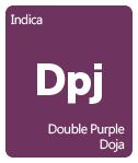 Leafly Double Purple Doja cannabis strain tile