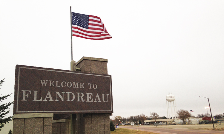 Welcome to Flandreau sign