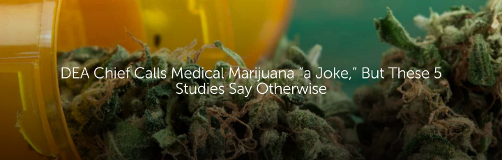 "DEA Chief Calls Medical Marijuana ""a Joke,"" But These 5 Studies Say Otherwise"