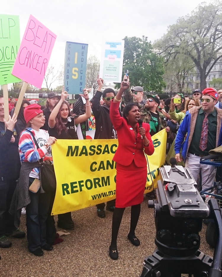 Massachusetts Cannabis Reform speaker at Reschedule 420 protest in Washington DC