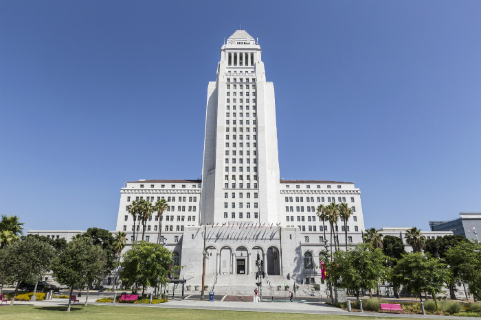 Los Angeles City Hall. Photo via iStock