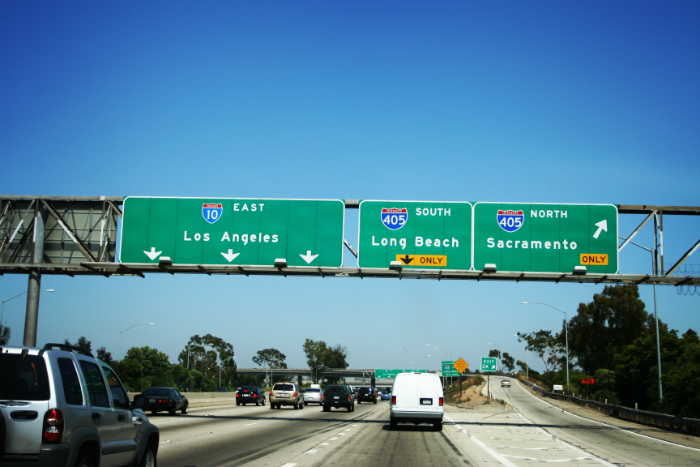 Los Angeles freeways. Photo via iStock