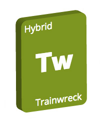 Leafly Trainwreck cannabis strain tile