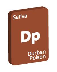 Leafly Durban Poison cannabis strain tile