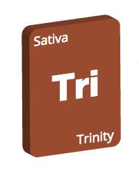 Leafly Trinity cannabis strain tile