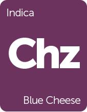 Leafly Blue Cheese cannabis strain tile