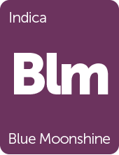 Leafly Blue Moonshine cannabis strain tile