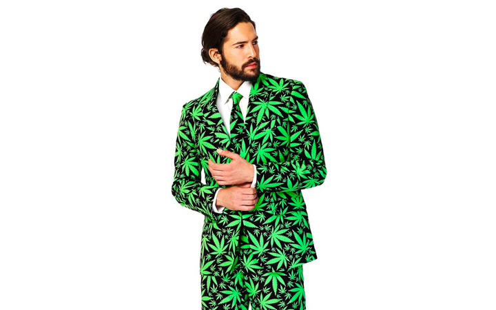 OppoSuits Men's Cannaboss Party Costume Suit