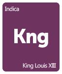 Leafly King Louis XIII cannabis strain tile