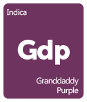 Leafly Granddaddy Purple cannabis strain tile