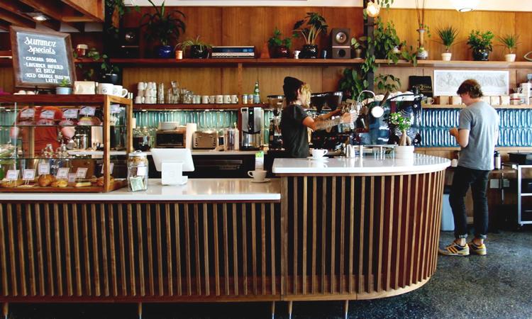 Counter of Case Study Coffee in Portland, Oregon