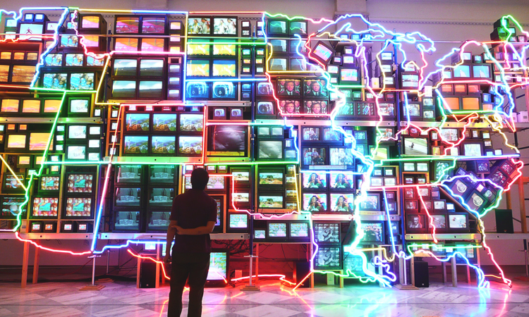 Electronic Superhighway in the National Portrait Gallery in Washington, D.C.