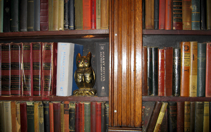 Bookshelf at the Magic Castle (photo credit: Victor Lee on Flickr)