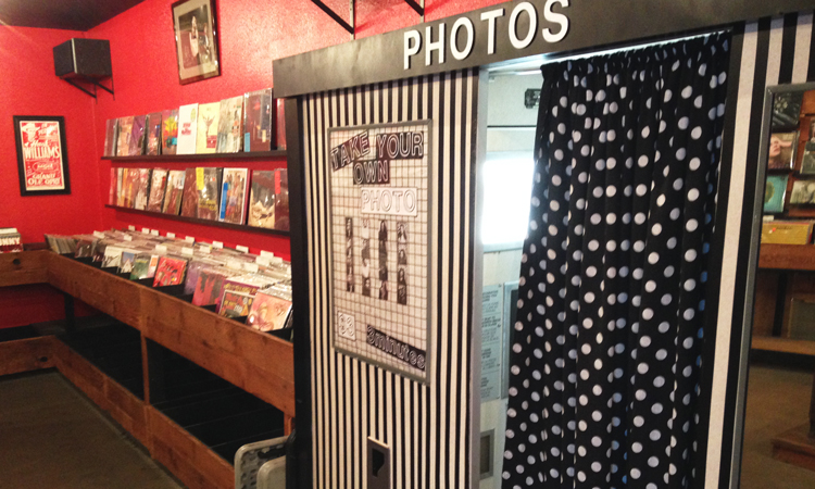 Photo booth at 1-2-3-4-Go Records