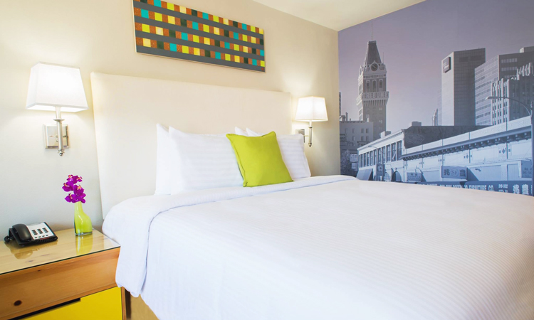 Bedroom at the Inn at Temescal
