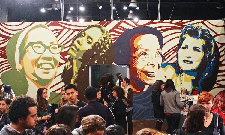 Art exhibit at Oakland Art Murmur