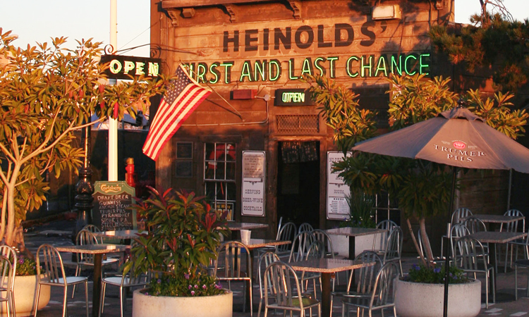 Outdoor patio at Heinold's First and Last Chance Saloon