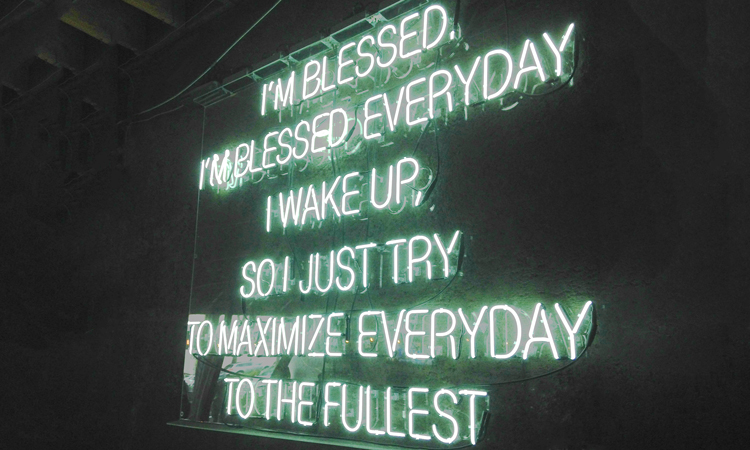 Neon sign at Beast Mode