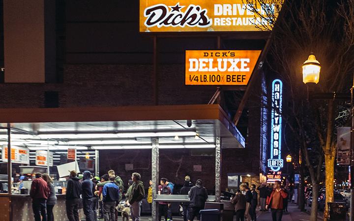 Dick's Drive-In on Broadway in Seattle (photo credit: Joe A. Kunzler Photo, AvgeekJoe Productions)