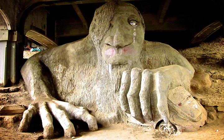 The Fremont troll (photo credit: Via Tsuji)