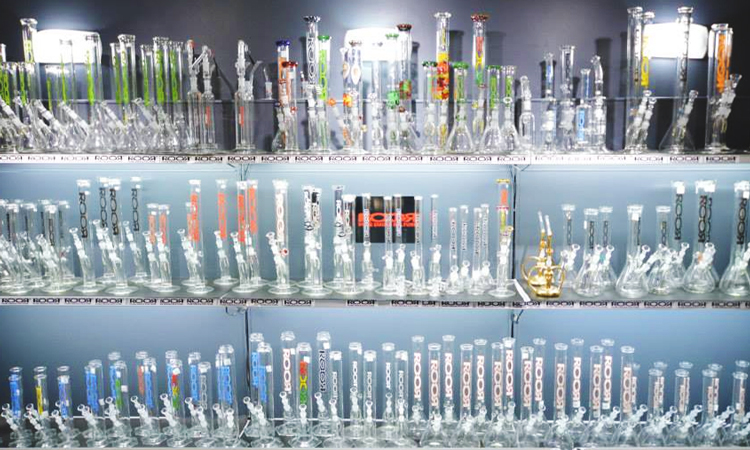 Glass bongs at Toronto Hemp Company