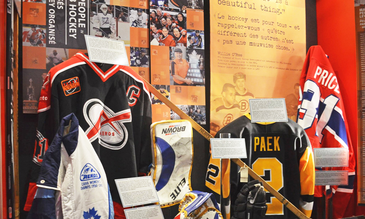 Display at the Hockey Hall of Fame