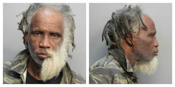 Kevin Gibson was arrested for intent to sell cannabis. He has a half-beard.