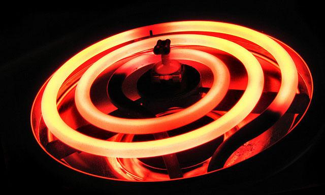 Hot electric burner
