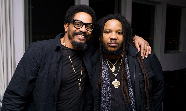 Rohan Marley, left, and Stephen Marley