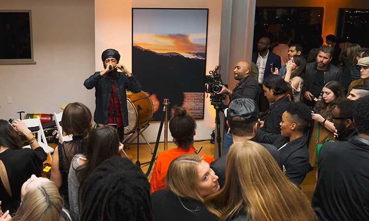 Jamaican reggae singer Protoje performing at the launch of Marley Natural cannabis products