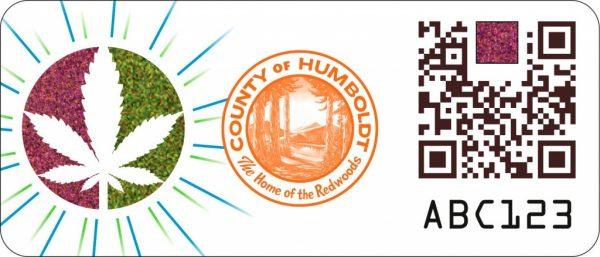 Humboldt County cannabis proof of origin pilot program sticker