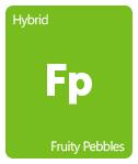 Leafly Fruity Pebbles cannabis strain tile