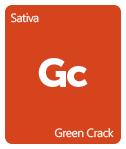 Leafly Green Crack cannabis strain tile