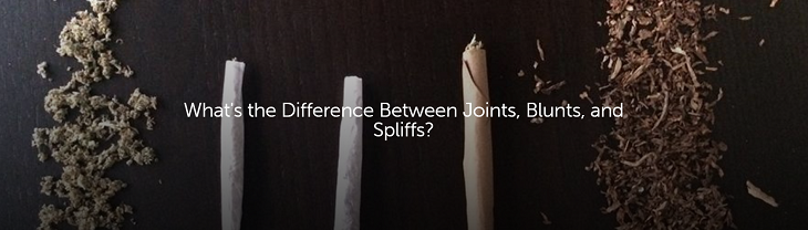 the difference between joints blunts and spliffs