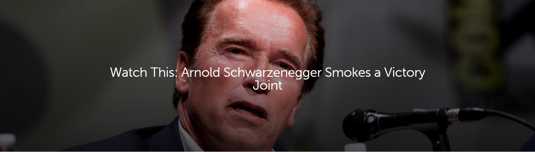 arnold schwarzenegger smokes a victory joint