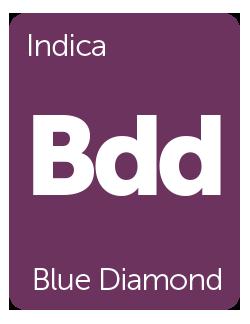 Leafly Blue Diamond cannabis strain tile