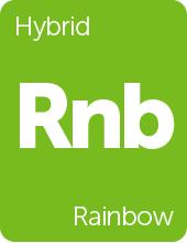 Leafly Rainbow cannabis strain tile